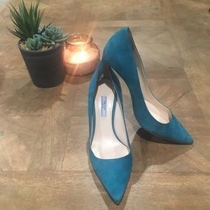 PRADA Suede Point-Toe 85mm Pumps